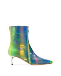 Maison Margiela Printed Kitten Heel Boots