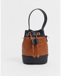 ASOS DESIGN Micro Bucket In Bag Monogram