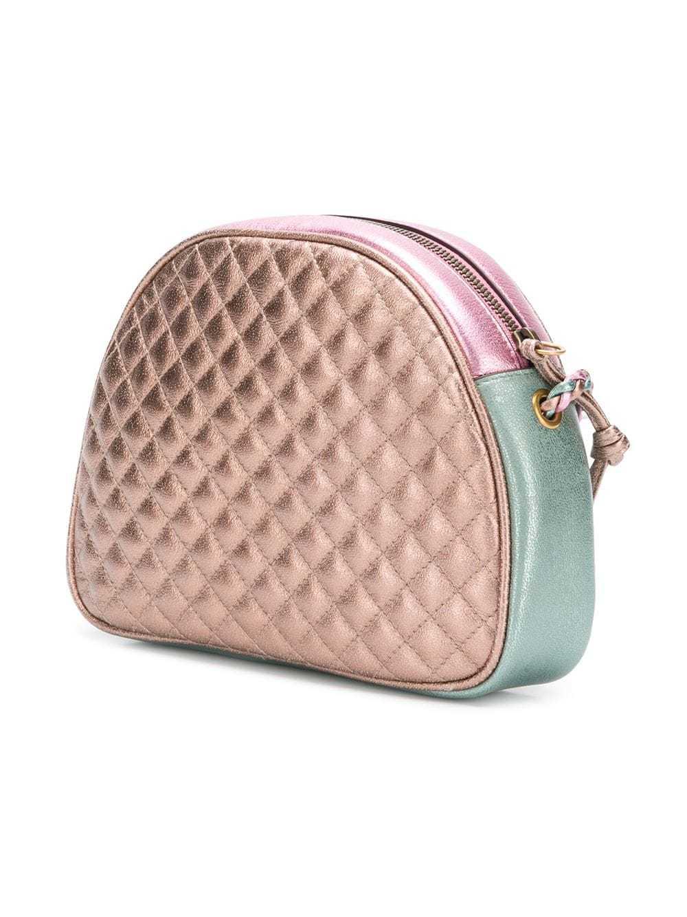 2d57bfb3330 Gucci Metallic Colour Block Clutch Bag