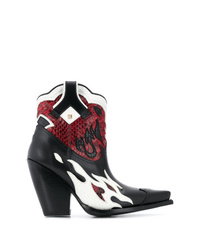Valentino Garavani Rockstud Flame Cowboy Boots