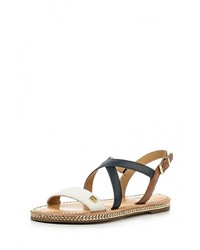 Multi colored Leather Flat Sandals