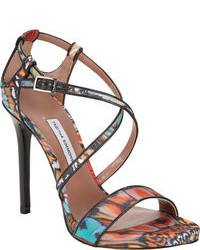 Multi colored Leather Heeled Sandals