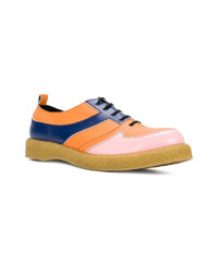 Multi colored Leather Oxford Shoes