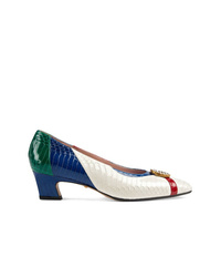 Gucci Snakeskin Pump With Crystal Double G