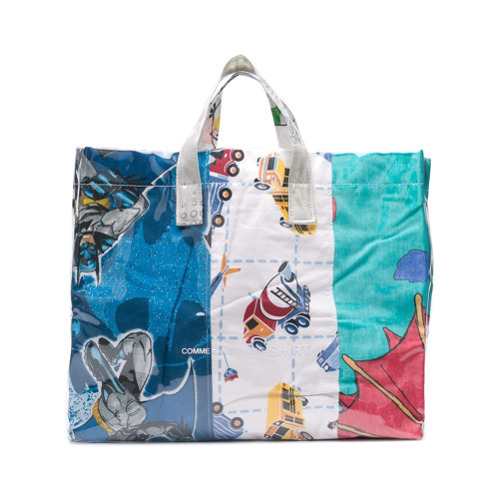 fd6ce5545 ... Multi colored Leather Tote Bags Comme Des Garcons SHIRT Comme Des  Garons Shirt Cartoon Print Shopper Bag ...