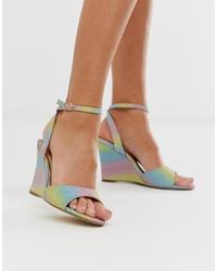 Head over Heels by Dune Head Over Heels Milley Glitter Wedge Sandals