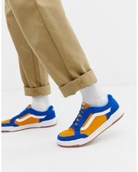 Vans Highland Colour Block Trainers In Yellow