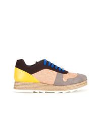 Stella McCartney Paneled Lace Up Sneakers