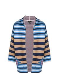 Alanui Colour Block Striped Hoodie