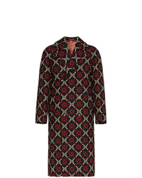 Gucci Double Breasted Logo Wool Coat