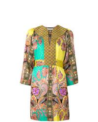 Etro Multi Print Kaftan Dress