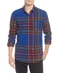 Multi colored Plaid Flannel Long Sleeve Shirt