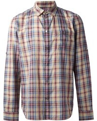 Multi colored Plaid Long Sleeve Shirt