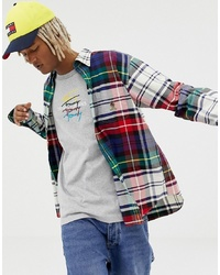 Tommy Jeans 60 Limited Capsule Large Check Shirt With Pocket Crest Logo In Multi