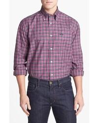 Façonnable Fall Plaid Classique Fit Poplin Sport Shirt