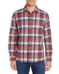 Grayers Hadley Heritage Regular Fit Plaid Flannel Sport Shirt