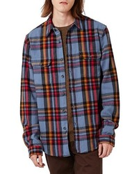Topman Plaid Flannel Shirt