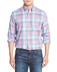 Southern Tide Laurel Falls Plaid Classic Fit Long Sleeve Sport Shirt Size Small Blue