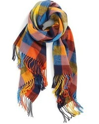 Multi colored Plaid Scarf