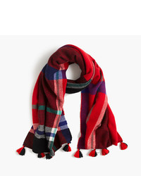 J.Crew Wool Scarf In Oversized Plaid