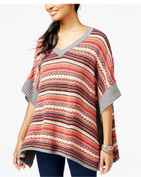 Multi colored poncho original 10213704