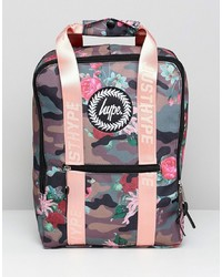 Hype Camo Pink Floral Boxy Backpack