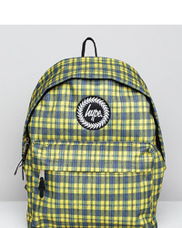 Hype Yellow Check Backpack Check