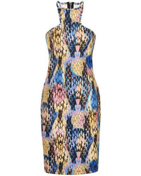 Multi colored Print Bodycon Dress