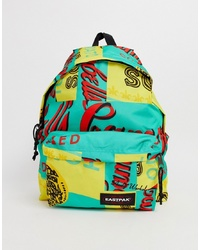 Multi colored Print Canvas Backpack