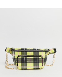 Skinnydip Toya Yellow Check Large Bum Bag