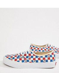 Multi colored Print Canvas Low Top Sneakers