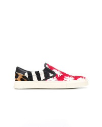 Amiri Contrast Panel Slip On Sneakers