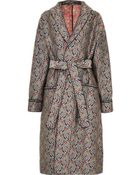 ALEXACHUNG Belted Jacquard Coat