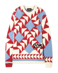 Calvin Klein 205W39nyc Intarsia Wool And Cotton Blend Sweater