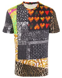 Versace Contrast Animal Print T Shirt