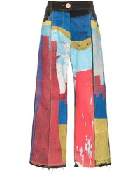 Bethany Williams Painted Patch Work Straight Leg Jeans