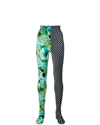 Richard Quinn Print Panelled Leggings