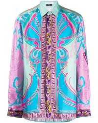 Versace Collection Contrast Print Shirt