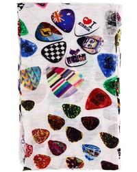 Guitar plectrum print scarf medium 375635