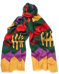 Rubinacci printed cashmere scarf medium 375634