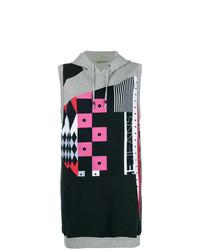 Versace Jeans Patch Work Hooded Sweatshirt