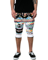 Multi colored Print Shorts