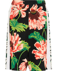 Stella McCartney Zandra Floral Print Stretch Crepe Shorts Pink