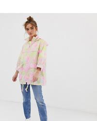 Asos Petite Asos Design Petite Pac A Mac Rain Jacket In Animal Print