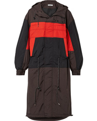 Ganni Faust Hooded Color Block Shell Jacket