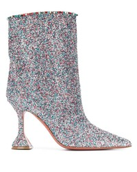 Multi colored Sequin Ankle Boots