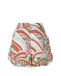 La Doublej Ruched Ruffle Shorts