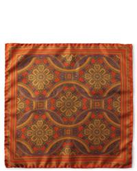 Harris printed silk twill pocket square medium 9276