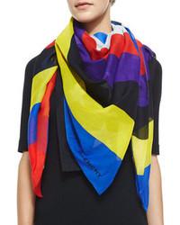 Multi colored Silk Scarf