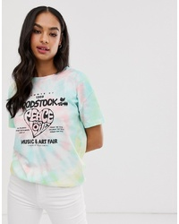 Multi colored Tie-Dye Crew-neck T-shirt